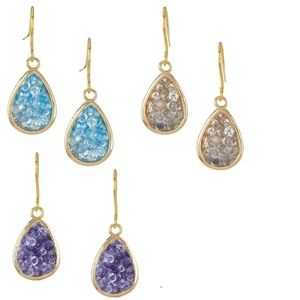 Druzy Rock Crystal Earrings